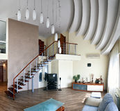 Modern interior (panoramic photo) Royalty Free Stock Image