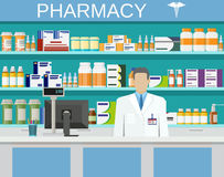 Modern interior pharmacy or drugstore Royalty Free Stock Photography