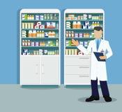 Modern interior pharmacy or drugstore Stock Images