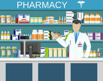 Modern interior pharmacy or drugstore Royalty Free Stock Images