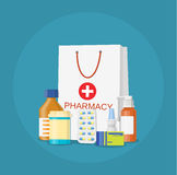 Modern interior pharmacy and drugstore. Stock Images