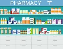 Modern interior pharmacy and drugstore. Stock Image