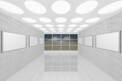 Modern interior picture gallery Royalty Free Stock Photo