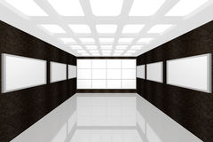 Modern interior picture gallery Royalty Free Stock Image
