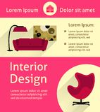 Modern interior poster Stock Photos