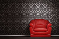 Modern interior. With a red armchair Royalty Free Stock Images