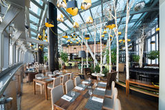 The modern interior of restaurant Sixty Stock Images