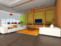 Modern interior of the room Royalty Free Stock Photos