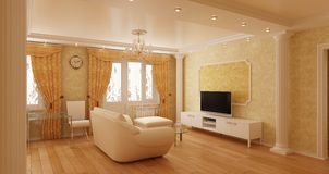 Modern interior of a room Royalty Free Stock Image