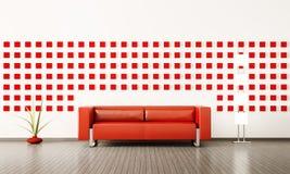 Modern interior of room 3d render vector illustration