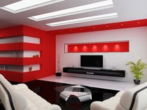 Modern interior of a room Royalty Free Stock Images