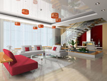Modern interior of the room Royalty Free Stock Photography