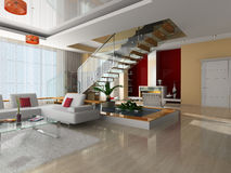 Modern interior of the room Stock Photography