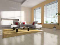 Modern interior of the room Royalty Free Stock Photo