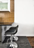 Modern Interior Room with beautiful Counter and Stools Royalty Free Stock Image
