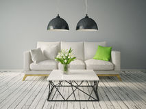 Modern interior. Room with a beautiful furniture Stock Photography