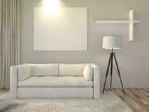 Modern interior room Stock Photo