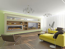Modern interior room Stock Images