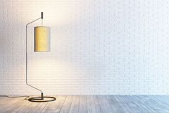 Modern interior of the room with floor lamp Royalty Free Stock Image