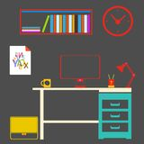 Modern interior room to work and study Royalty Free Stock Photography