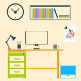 Modern interior room to work and study Stock Photo