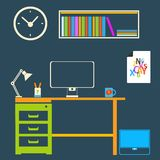 Modern interior room to work and study Stock Image