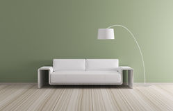 Modern interior with sofa 3d render Royalty Free Stock Photos