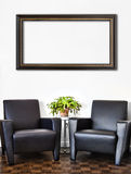 Modern Interior Room and white wall Royalty Free Stock Images