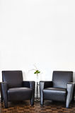 Modern Interior Room and white wall Stock Photography