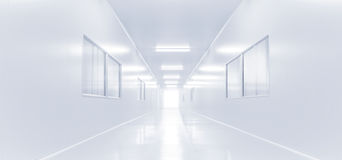 Modern interior science lab with lighting from gateway Stock Photo