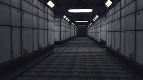 Modern interior scifi architecture Stock Photo