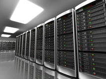 Modern interior of server room Royalty Free Stock Photos