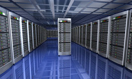 Modern interior of server room Royalty Free Stock Images