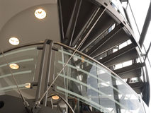 Modern interior of shopping center Stock Photos
