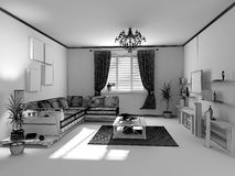 The modern interior sketch Stock Photos