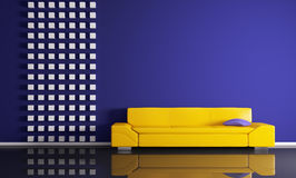 Modern interior with sofa 3d render Stock Photo