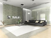 Modern interior with sofa Royalty Free Stock Photo