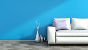Modern interior with sofa Stock Image