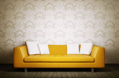 Modern interior with sofa 3d render Stock Image