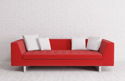 Modern interior with sofa 3d render Royalty Free Stock Images