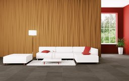 Modern interior with sofa 3d render Stock Photography