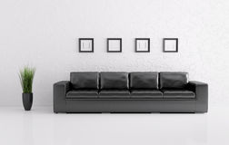 Modern interior with sofa 3d render Royalty Free Stock Photography