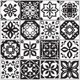 Modern interior spanish and turkish tiles. Kitchen floral vector patterns. Illustration of surface mosaic ceramic pattern, arabesque and portuguese floor tile Royalty Free Stock Images