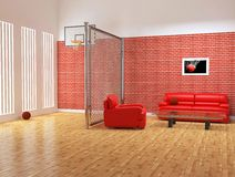 Modern interior of sport studio Stock Photo