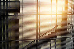 Modern interior with stair and lath wall Royalty Free Stock Photo
