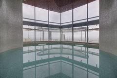 Modern interior of swimming pool Royalty Free Stock Images