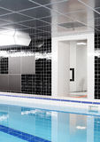 Modern interior of swimming pool Royalty Free Stock Photo