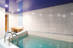 Modern interior of swimming pool Stock Photography