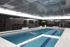 Modern interior of swimming pool Royalty Free Stock Photography