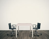 Modern interior table and chairs Royalty Free Stock Images